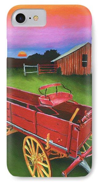 Red Buckboard Wagon Phone Case by Stephen Anderson