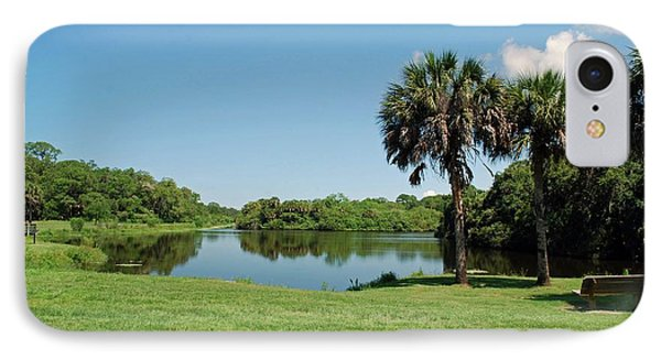 IPhone Case featuring the photograph Red Bug Slough by Gary Wonning
