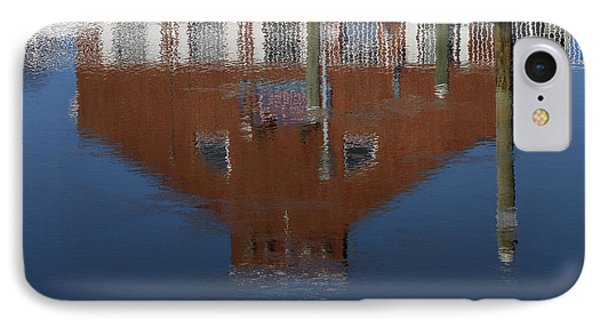 Red Building Reflection Phone Case by Karol Livote