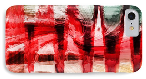 Red Buildings IPhone Case by Cherie Duran