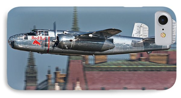 Red Bull North American B-25j Mitchell Phone Case by Anton Balakchiev