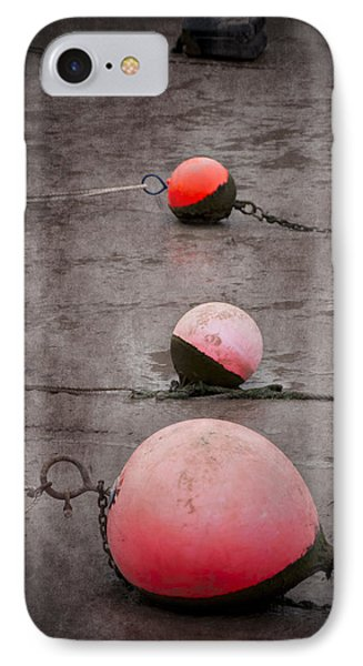 Red Buoys  Phone Case by Svetlana Sewell