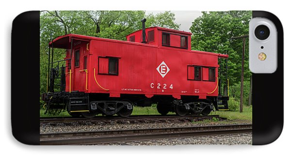 Red Caboose C224 New Jersey IPhone Case by Terry DeLuco