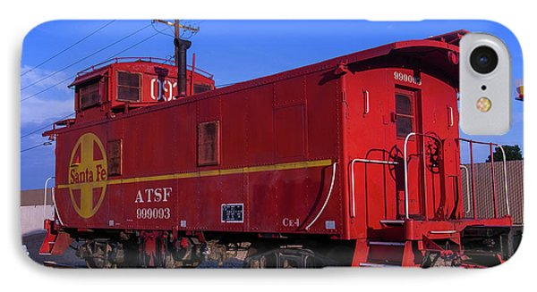 Red Caboose  IPhone Case by Garry Gay