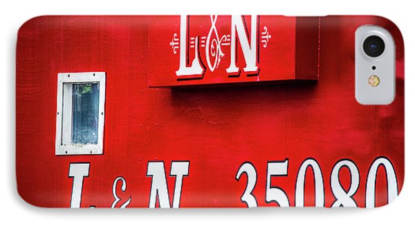 IPhone Case featuring the photograph Red Caboose by Parker Cunningham