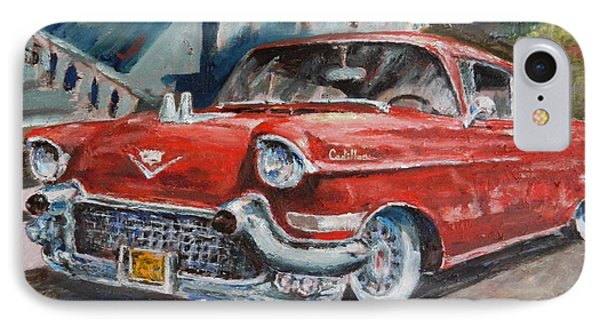 Red Caddy IPhone Case by William Reed