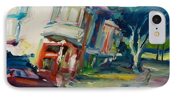 Red Cafe IPhone Case by Rick Nederlof