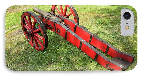 Red Cannon At Swedes Invasion IPhone Case by Arletta Cwalina