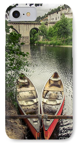 Red Canoes IPhone Case by Carlos Caetano