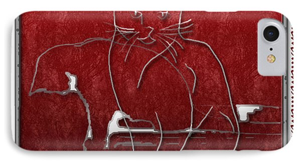 Red Cats IPhone Case by Arline Wagner