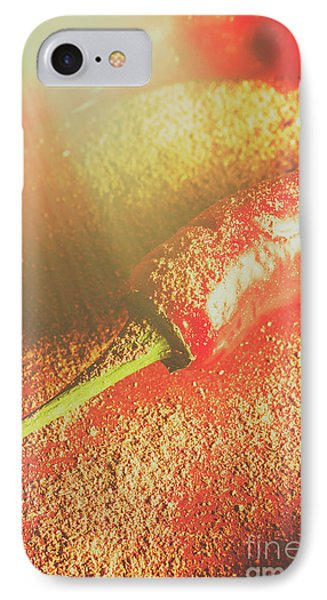 Red Cayenne Pepper In Spicy Seasoning IPhone Case