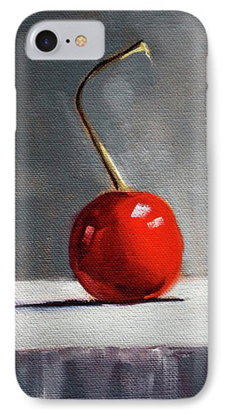 IPhone Case featuring the painting Red Cherry by Nancy Merkle