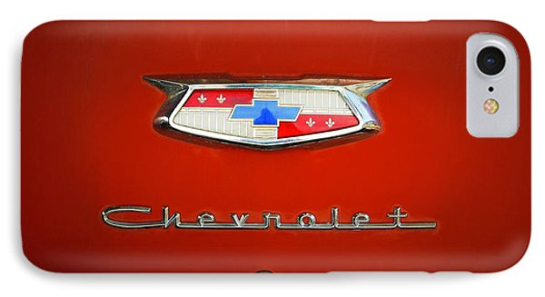 IPhone Case featuring the photograph Red Chevy Bel-air Trunk by Marilyn Hunt