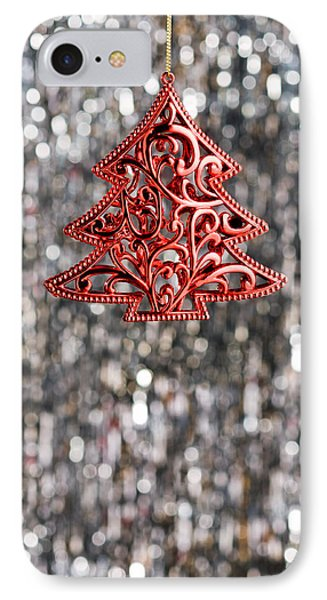IPhone Case featuring the photograph Red Christmas Tree by Ulrich Schade