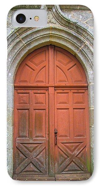 Red Church Door IIi IPhone Case by Helen Northcott