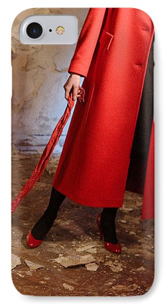 Red Coat #4810 IPhone Case by Andrey Godyaykin