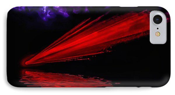 Red Comet IPhone Case by Naomi Burgess