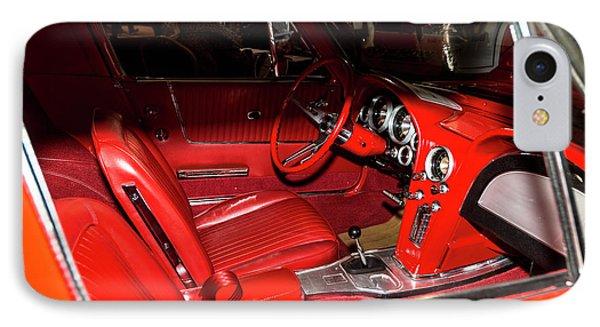 Red Corvette Stingray IPhone Case by Amyn Nasser
