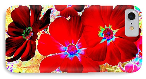 Red Cosmos Phone Case by Will Borden