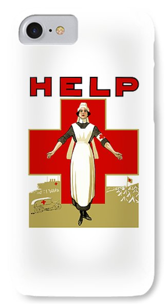 Cross iPhone 7 Case - Red Cross Nurse - Help by War Is Hell Store