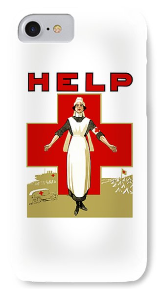 Red Cross Nurse - Help IPhone Case