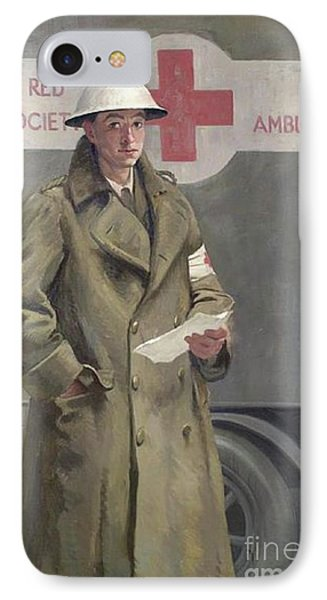 Red Cross Officer In France IPhone Case