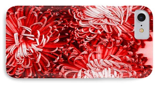 Red Crysanthiam IPhone Case