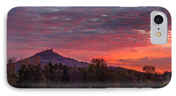 Red Dawn Over The Hohenzollern Castle IPhone Case by Dmytro Korol