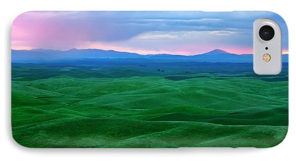 Red Dawn Over The Palouse Phone Case by Mike  Dawson