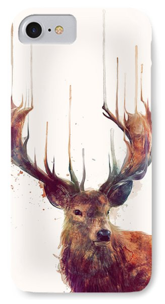 Red Deer IPhone 7 Case by Amy Hamilton