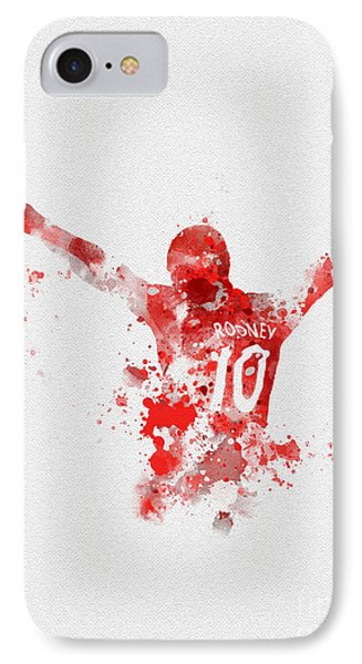 Red Devil Portrait IPhone Case by Rebecca Jenkins