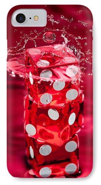 Red Dice Splash Phone Case by Steve Gadomski
