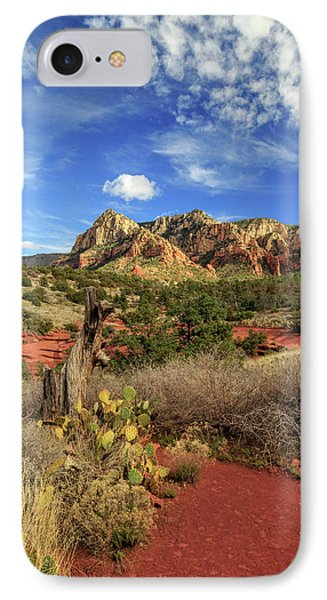Red Dirt And Cactus In Sedona IPhone Case by James Eddy