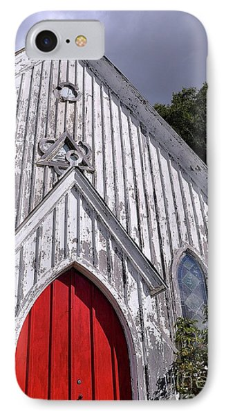 Red Door IPhone Case by Gina Savage
