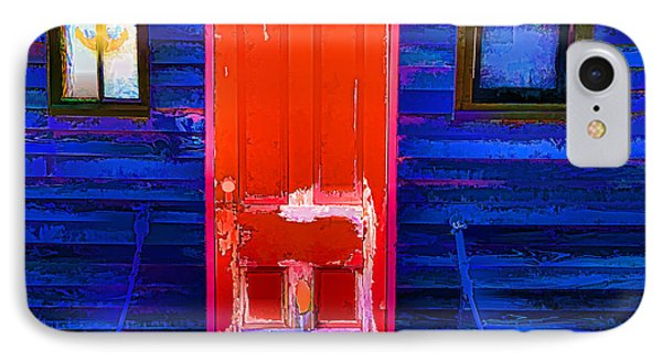 IPhone Case featuring the photograph Red Door Harbor by Rick Bragan