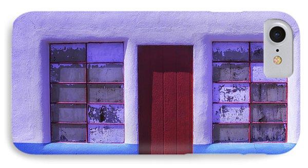 Red Door Old Building IPhone Case by Garry Gay