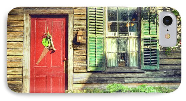 Red Door With Saw IPhone Case