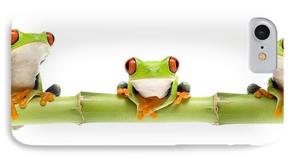 Red-eyed Treefrogs Phone Case by Mark Bowler and Photo Researchers