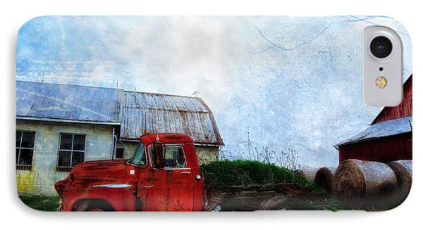 Red Farm Truck Phone Case by Bill Cannon