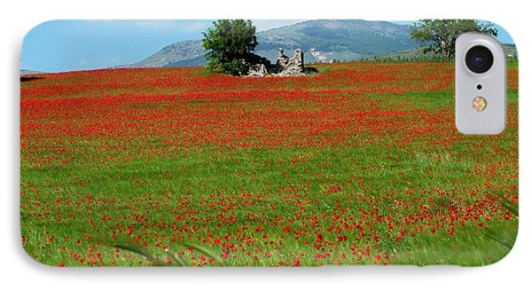 Red Fields Phone Case by Judy Kirouac