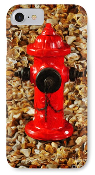 IPhone Case featuring the photograph Red Fire Hydrant by Andee Design
