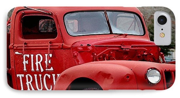 Red Fire Truck IPhone Case by Michael Thomas