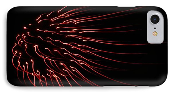 Red Firework  IPhone Case by Chris Berry