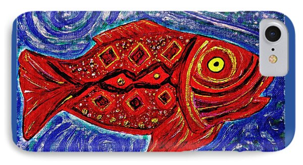 Red Fish Phone Case by Sarah Loft