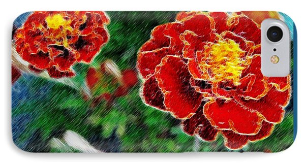 IPhone Case featuring the photograph Red Flower In Autumn by Joan  Minchak
