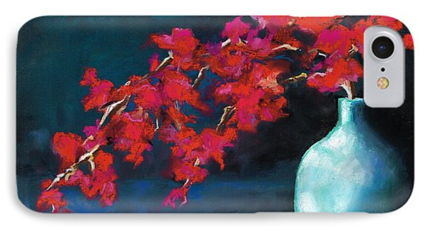 IPhone Case featuring the painting Red Flowers by Frances Marino