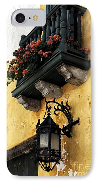 Red Flowers In Cartagena Phone Case by John Rizzuto