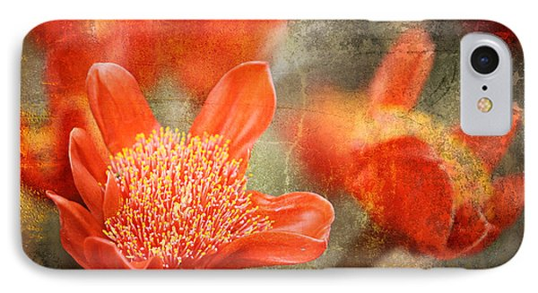 Red Flowers IPhone Case by Larry Marshall