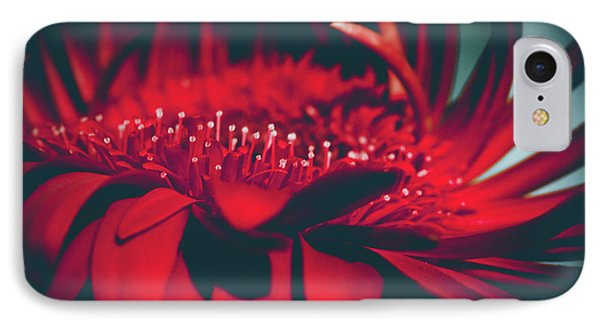 IPhone Case featuring the photograph Red Flowers Parametric by Sharon Mau