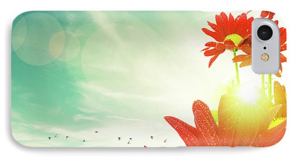IPhone Case featuring the photograph Red Flowers Spring by Carlos Caetano